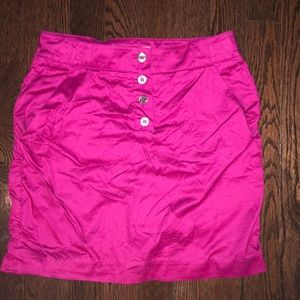 purple Burberry mini skirt